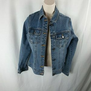 Denim blue jean jacket sz small